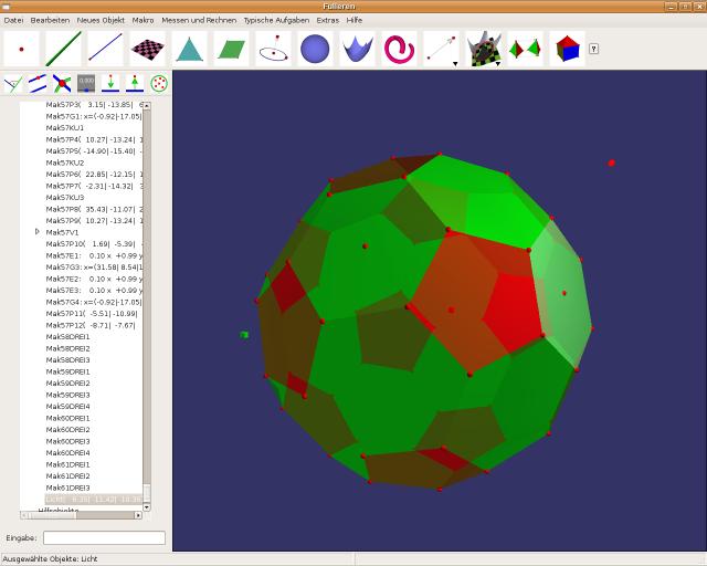 "A fullerene (""football"") under Ubuntu Linux 7.10"