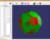 "A fullerene (""football"") under Ubuntu Linux 7.10"