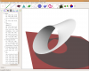 Moebius strip using projective shadows unter Ubuntu Linux 7.10